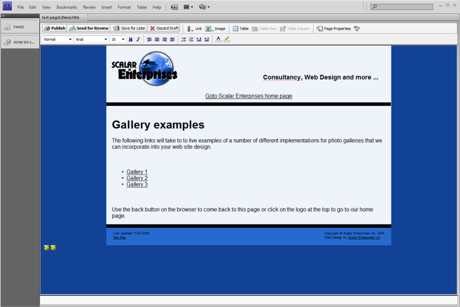 creating a new page in contribute step4