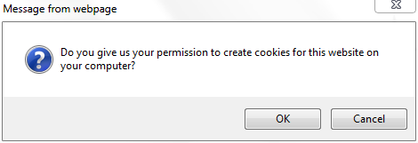 opt in permission for storing cookies on your computer