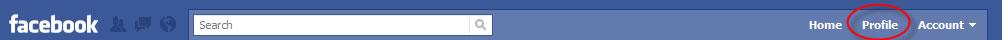 Facebook profile tab image