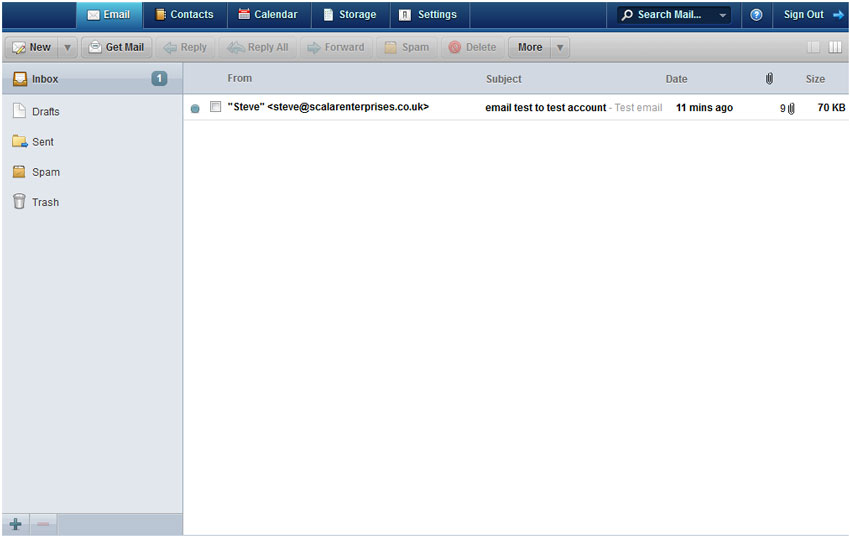 Webmail email tab