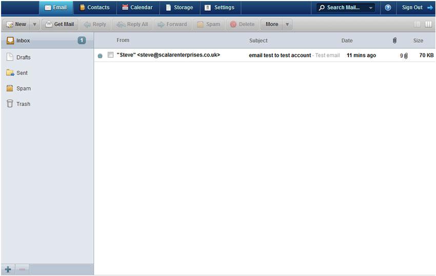 Webmail email tab
