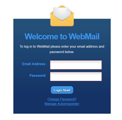 Webmail login window