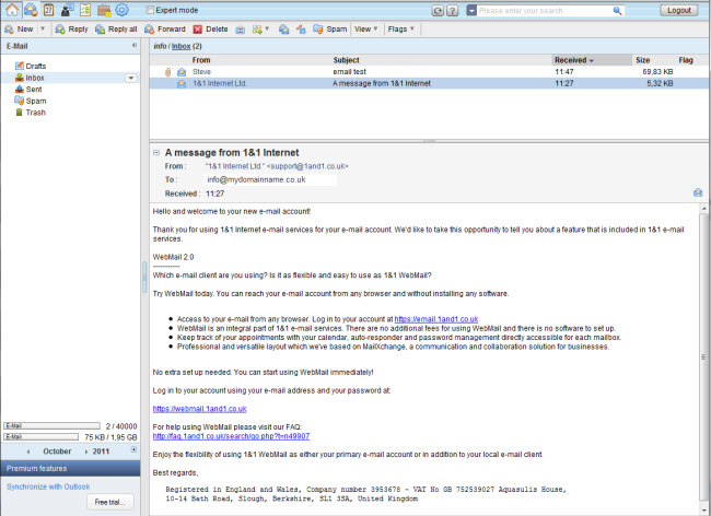 webmail email tool