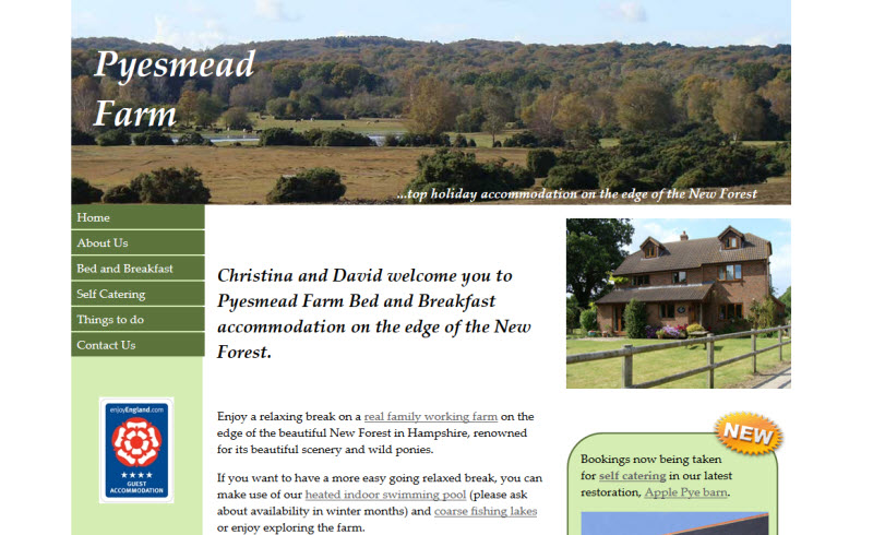 Pyesmead Farm - B&B - Self CAteriang accommodation - New Forest