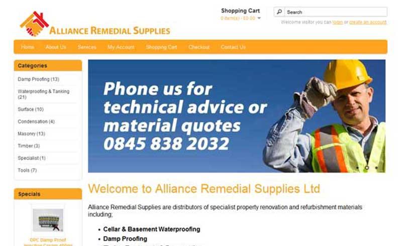 Alliance remedial supplies Gosport