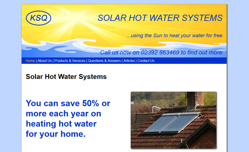 KSQ Solar Hot Water Portsmouth