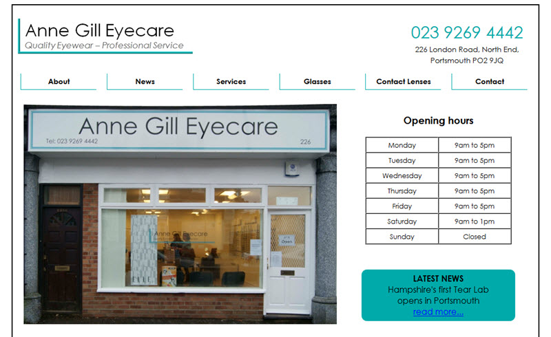 Anne Gill Eyecare - North End - Portsmouth