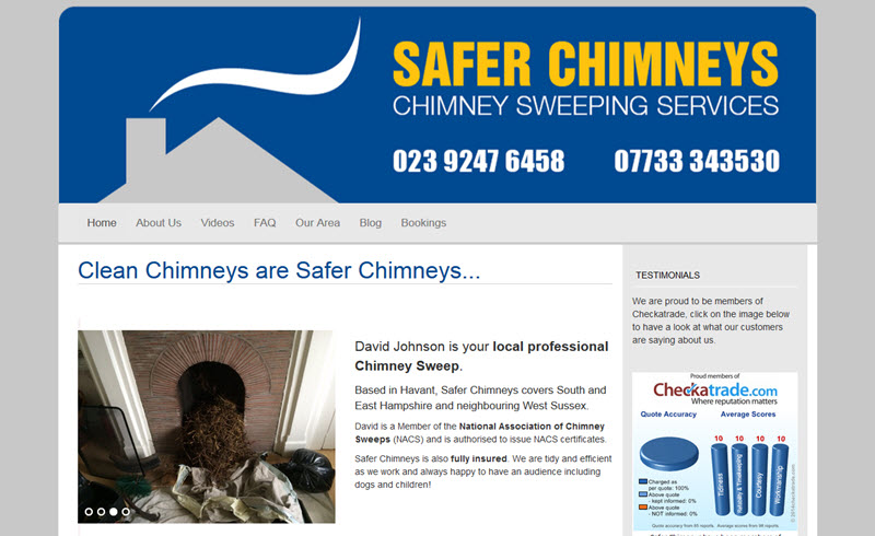 Safer Chimneys - local chimney sweep - Havant