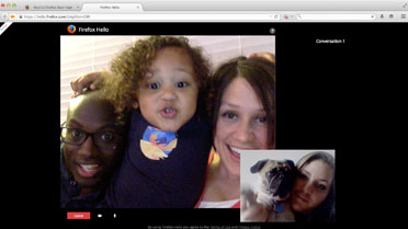 Firefox Hello video chat