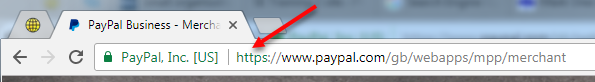 chrome browser - paypal secure