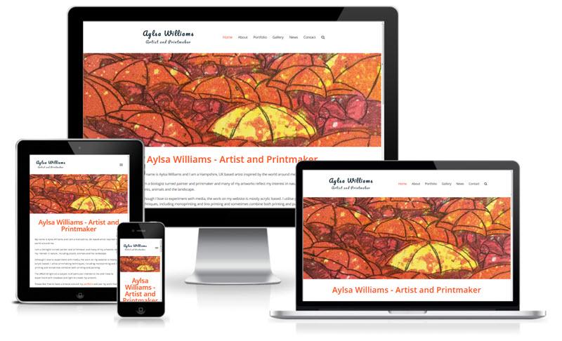 Aylsa Williams - Artist & Printmaker Screenshot