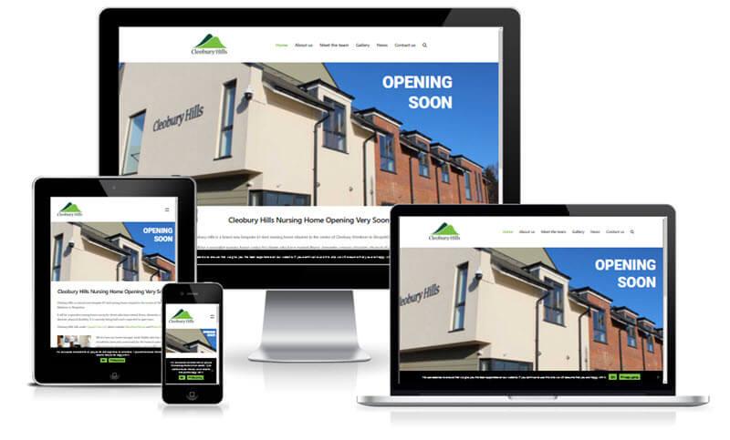 cleobury hills care home website screenshot
