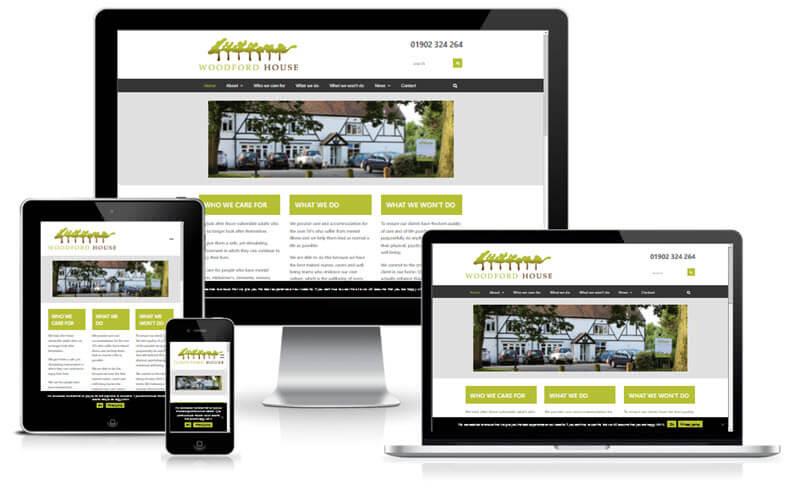 Woodford House Care Home Website Screenshot